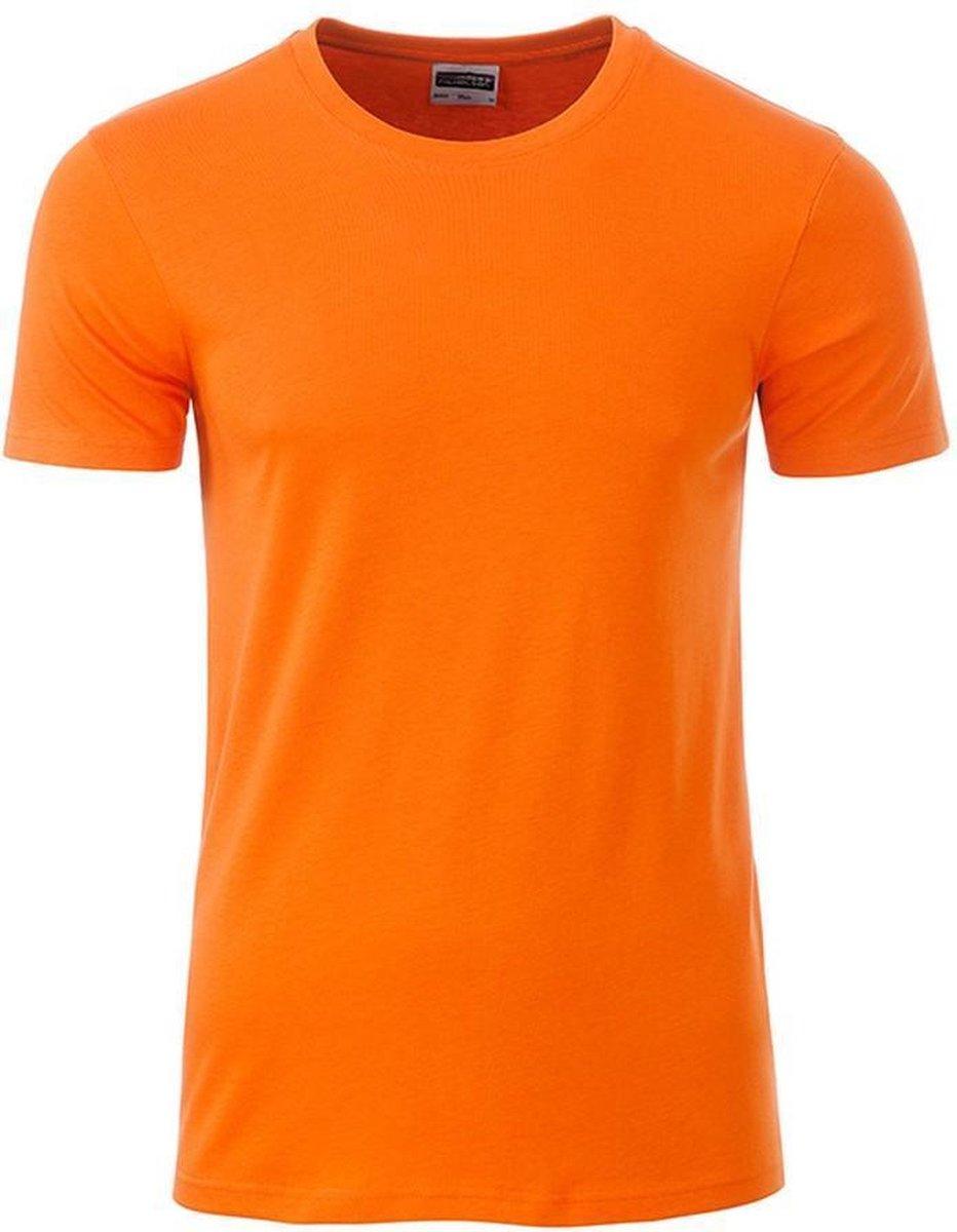 James and Nicholson - Heren Standaard T-Shirt (Oranje)