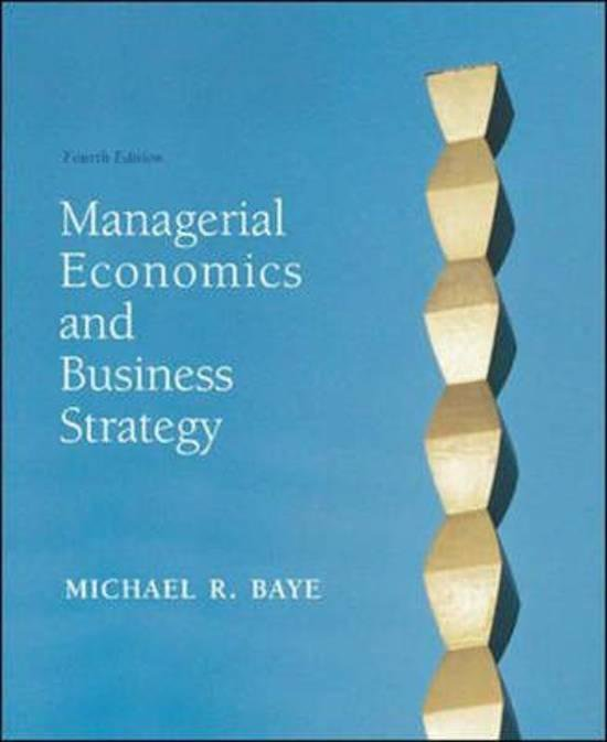 Boek cover Managerial Economics and Business Strategy van Michael Baye (Onbekend)