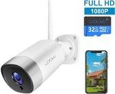 Looki® 1080P Full HD Buiten WiFi beveiligingscamera met app - inclusief 32GB micro SD kaart en Cloud opslag - Outdoor