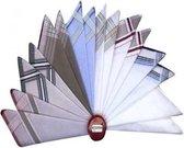 Zakdoeken Heren - Streep Motief Zakdoek - Exclusief Design - 12 Stuks - 40 x 40cm - Diverse Kleuren