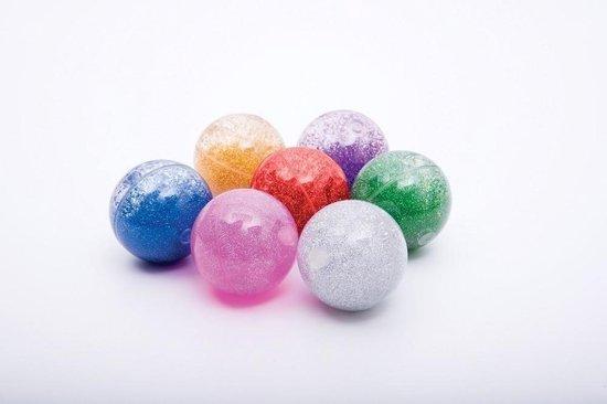 Afbeelding van het spel Sensorische Regenboog Glitter Ballen - Set van 7