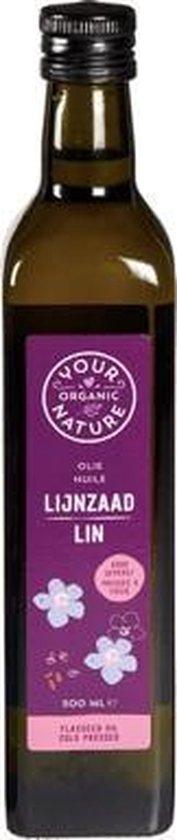 Lijnzaadolie Your Organic Nature - Fles 500 ml - Biologisch