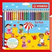 STABILO Trio Dik Kleurpotloden - Etui 24 kleuren