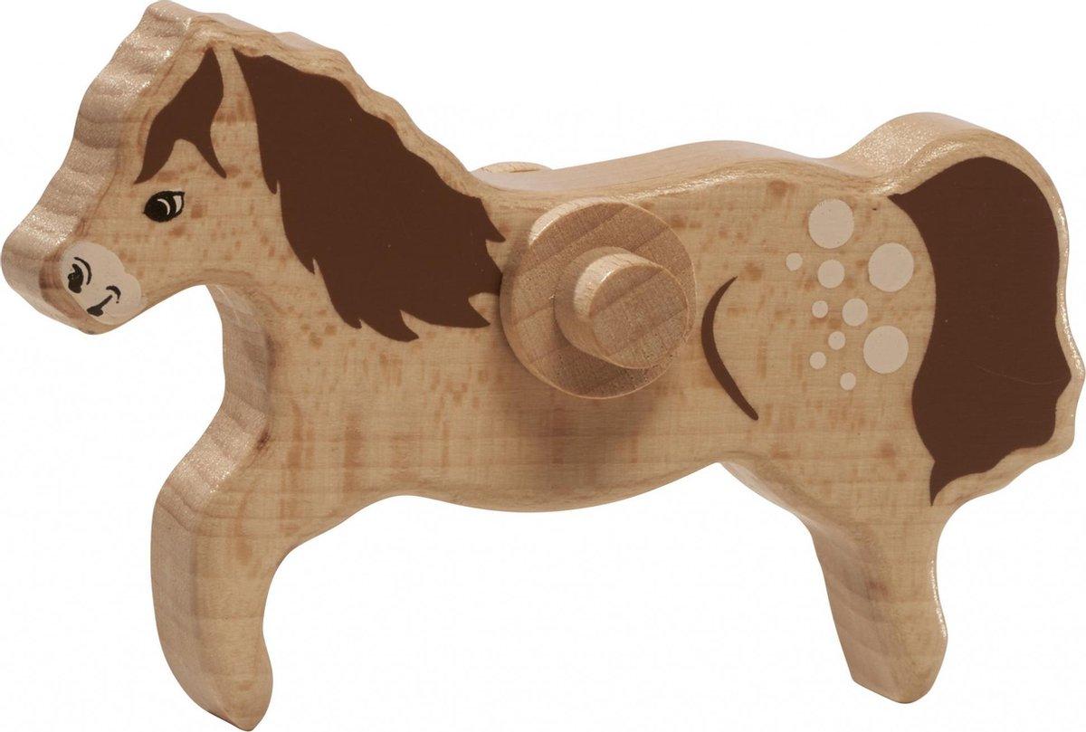 Nic Bruin Paardje 12 Cm Hout