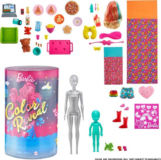 Barbie Color Reveal Slumber Party - Barbiepop