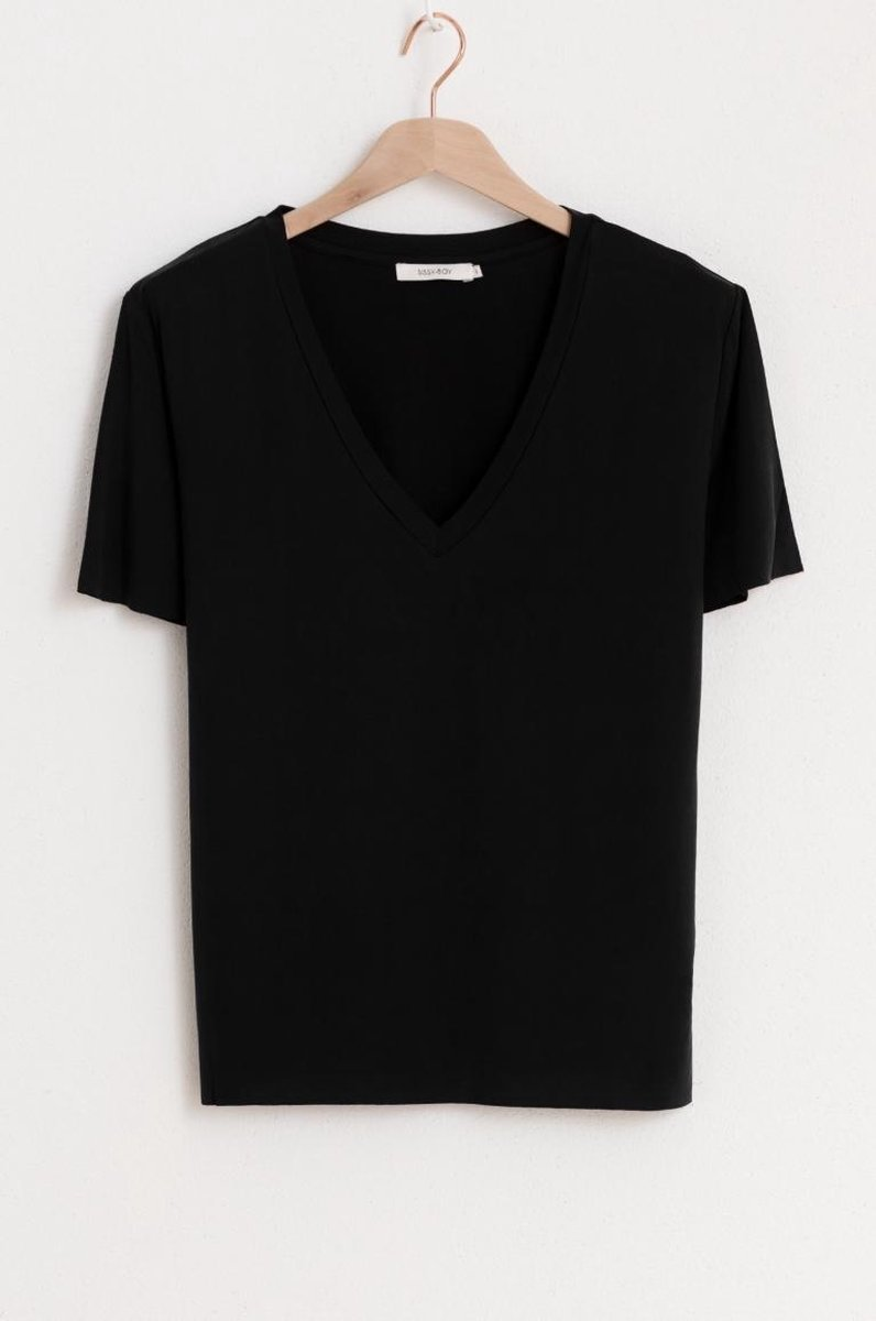 Sissy-Boy - Zwart t-shirt met V-hals