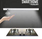 Exilien onderbouwverlichting met sensor/Led keukenverlichting/ Onderbouwlamp/ Modern keukenlamp/ Keukenspotjes/ Lichtbalk rechthoek/ Kastlicht/ 2700K-3000K wit/ Lichtnet met adapter/ 30CM