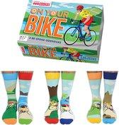 Vaderdag cadeau - United Oddsocks - Mismatched sokken - On Your Bike Multipack Heren Fiets Sokken - 40-46