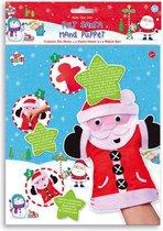Maak je eigen Handpop Kerstman - knutselset - Rood