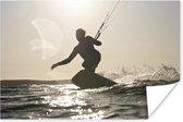 Kite surfende man poster papier 120x80 cm - Foto print op Poster