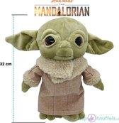 Yoda Star Wars Pluche Knuffel 32cm - The Mandalorian Movie - HIGH QUALITY GIFT Joda Child - Speelgoed Peluche Plush - Baby YODA Starwars 32cm