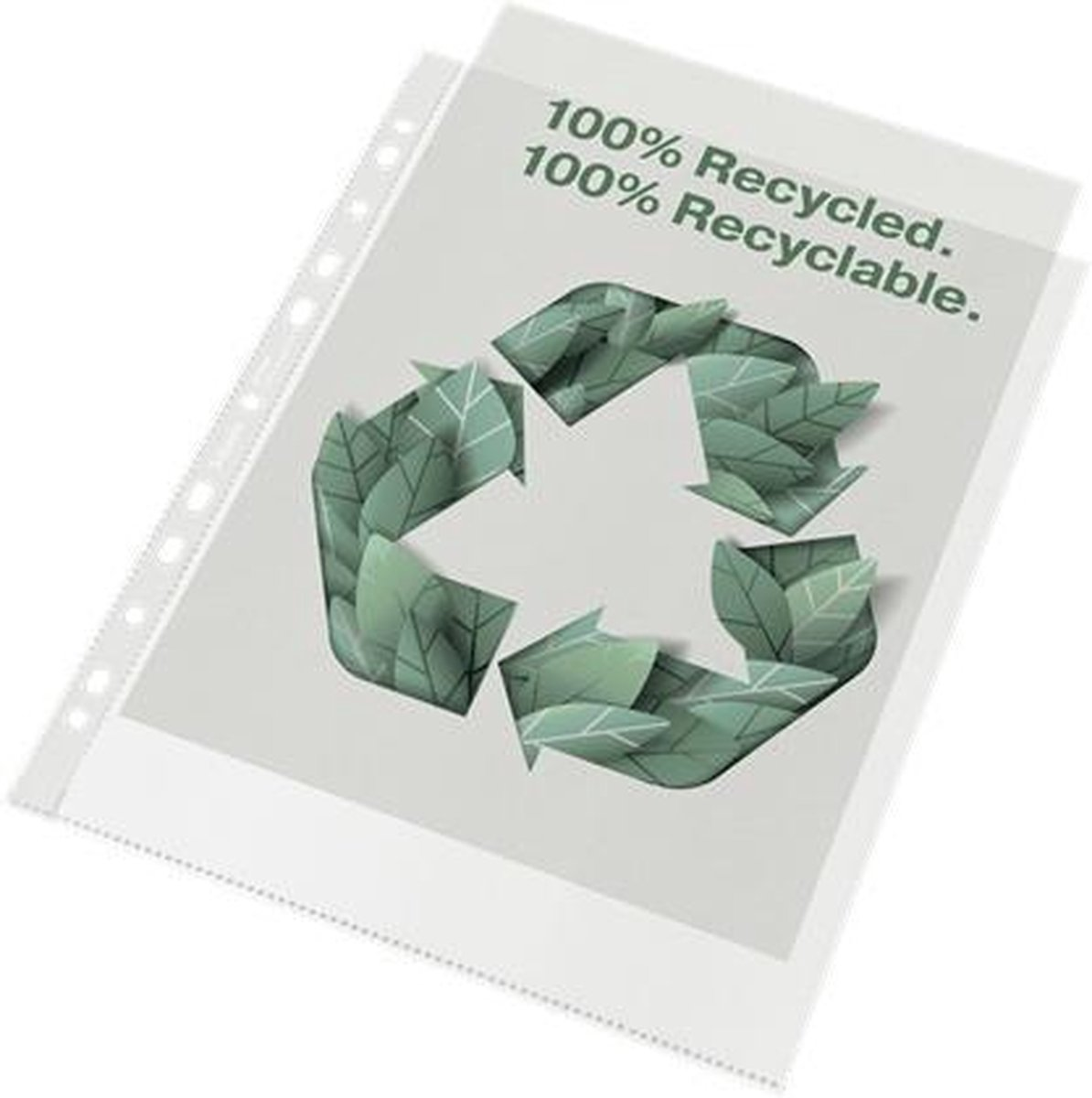 Esselte 100% Gerecyclede PP A4 Maxi Showtas - 70 micron - 100x Transparante, Milieuvriendelijke Insteekhoezen - Duurzaamheid