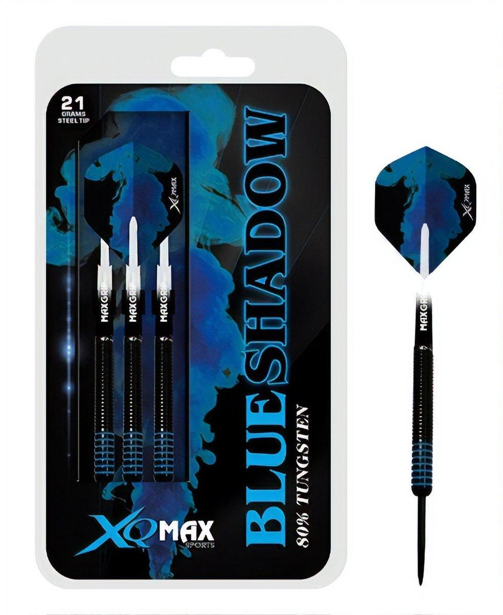 XQ Max - Blue Shadow - darts - 21 gram - dartpijlen - 80% tungsten - steeltip - Blueshadow