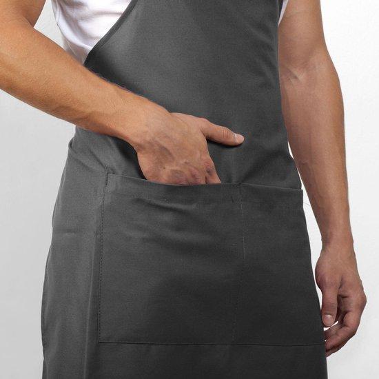 Mijncadeautje Schort - Ik ben geniaal - opdruk wit - mooie en exclusieve keukenschort - zwart - mijncadeautje kitchenware