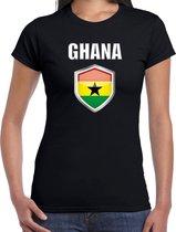 Ghana landen t-shirt zwart dames - Ghanese landen shirt / kleding - EK / WK / Olympische spelen Ghana outfit XL