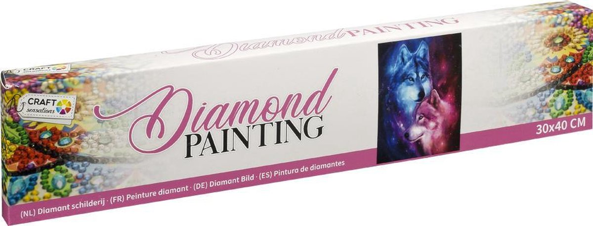 Diamond painting   Wolven   Afmeting: 30 x 40 CM   Inclusief diamond painting pen   diamond painting volwassenen