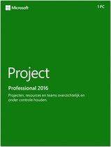 Microsoft Project Pro 2016 - Nederlands / Frans / Engels