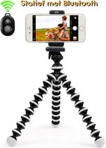 Flexibele Statief voor Smartphone camera met houder en Afstandsbediening - Mobiele Telefoon Houder - Tripod Octopus Bluetooth- Gopro en Ipad Tripod
