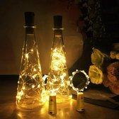 3 x Flessen dop kurk à 20 lampjes met led licht voor in lege fles zoals wijnfles. Decoratief Warm wit