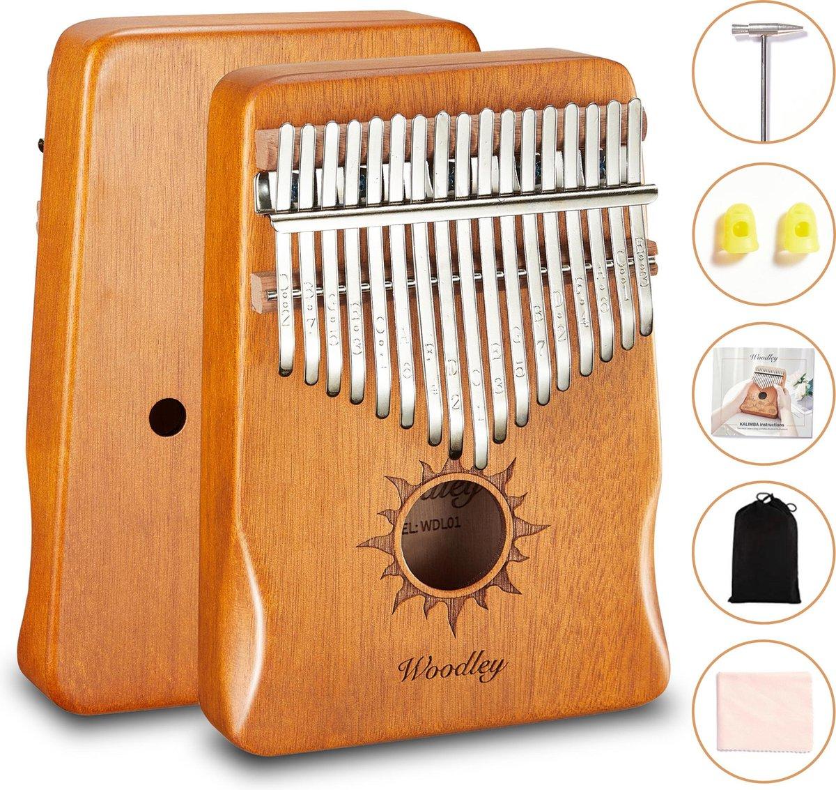 Kalimba set - 17 tonen - Duimpiano - Muziekinstrument - Bamboe - Cadeau voor man en vrouw - Voor kin