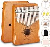 Kalimba set - 17 tonen - Duimpiano - Muziekinstrument - Bamboe - Cadeau voor man en vrouw - Voor kinderen en volwassenen