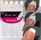 French Manicure Smile Line Nagel Stickers - Nail Art - 102 stuks - Kunstnagels - Tip Guides