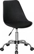 Pippa Design bureaustoel draaifauteuil - zwart kunstleer