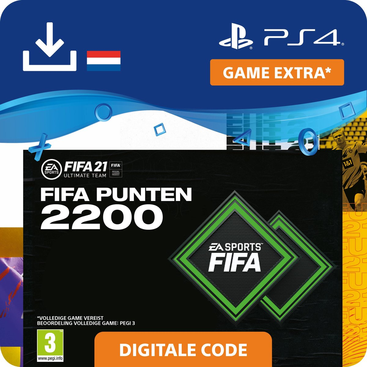 2.200 FUT Punten - FIFA 21 Ultimate Team - In-Game tegoed   PS4/PS5 Download - NL