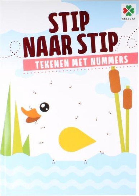 Thumbnail van een extra afbeelding van het spel Stip Naar Stip Tekenen Met Nummers - Doeboek