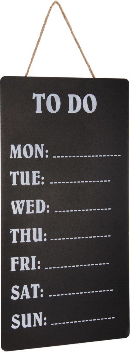Merkloos / Sans marque 1x Weekplanners To Do schrijfbord/memobord 30 x 60 cm Woonaccessoires Huisdecoratie Kantoorbenodigdheden Weekplanners Planborden Memoborden/schrijfborden To Do borden online kopen