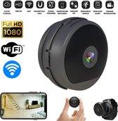 PIXMY ® - Spy Camera - Verborgen Camera - Mini Camera - 1080p Full HD 440mAh WiFi - Incl. 128 GB SD, USB Kaartlezer, Powerbank