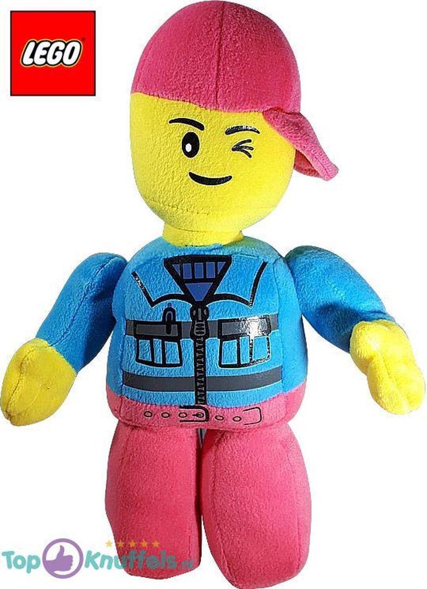 Lego Pluche Knuffel Roze Blauw 32 cm | Lego Plush Toy | Lego Peluche Knuffel | Lego kinderspeelgoed | Lego knuffel voor kinderen