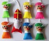 Sinterklaas en Pieten van vilt set van 7 figuren