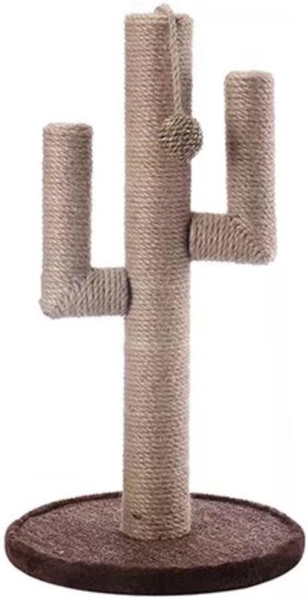 Krabpaal Cactus - kattenpaal - scratching post - beige