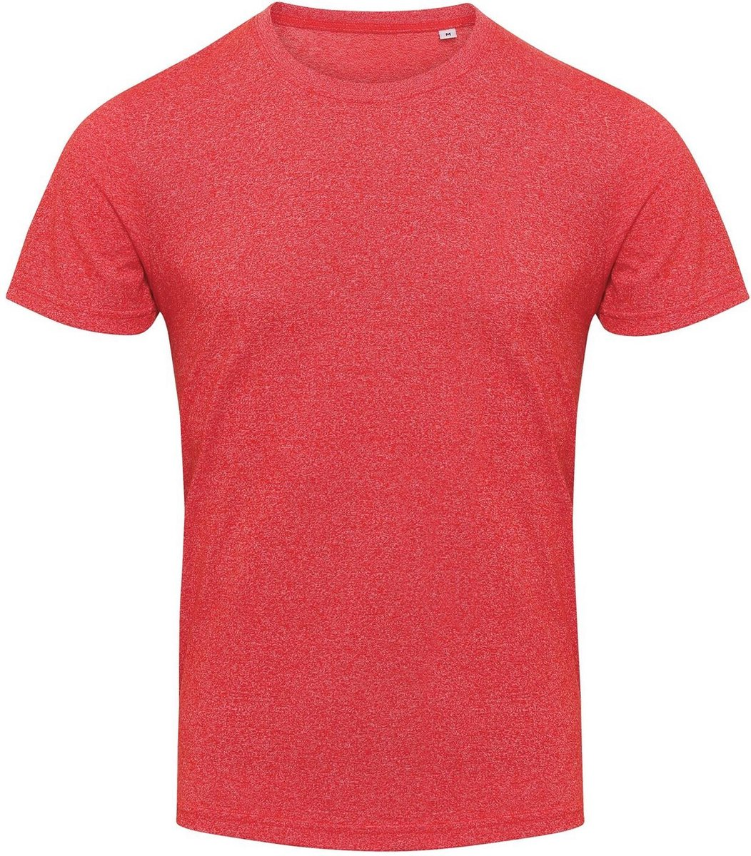 AWDis Heren Space Blend T Shirt (Ruimte Rood/Wit)