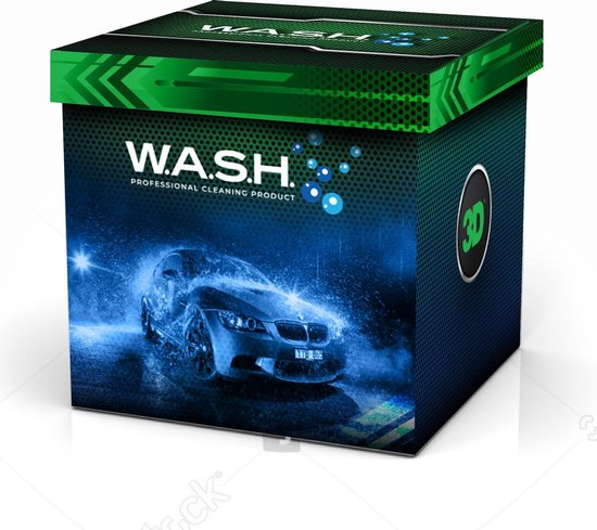 W.A.S.H. AUTO WASSEN & POETSEN MYSTERY KADO BOX - ter waarde van Euro 50,00 - voor de autoliefhebber