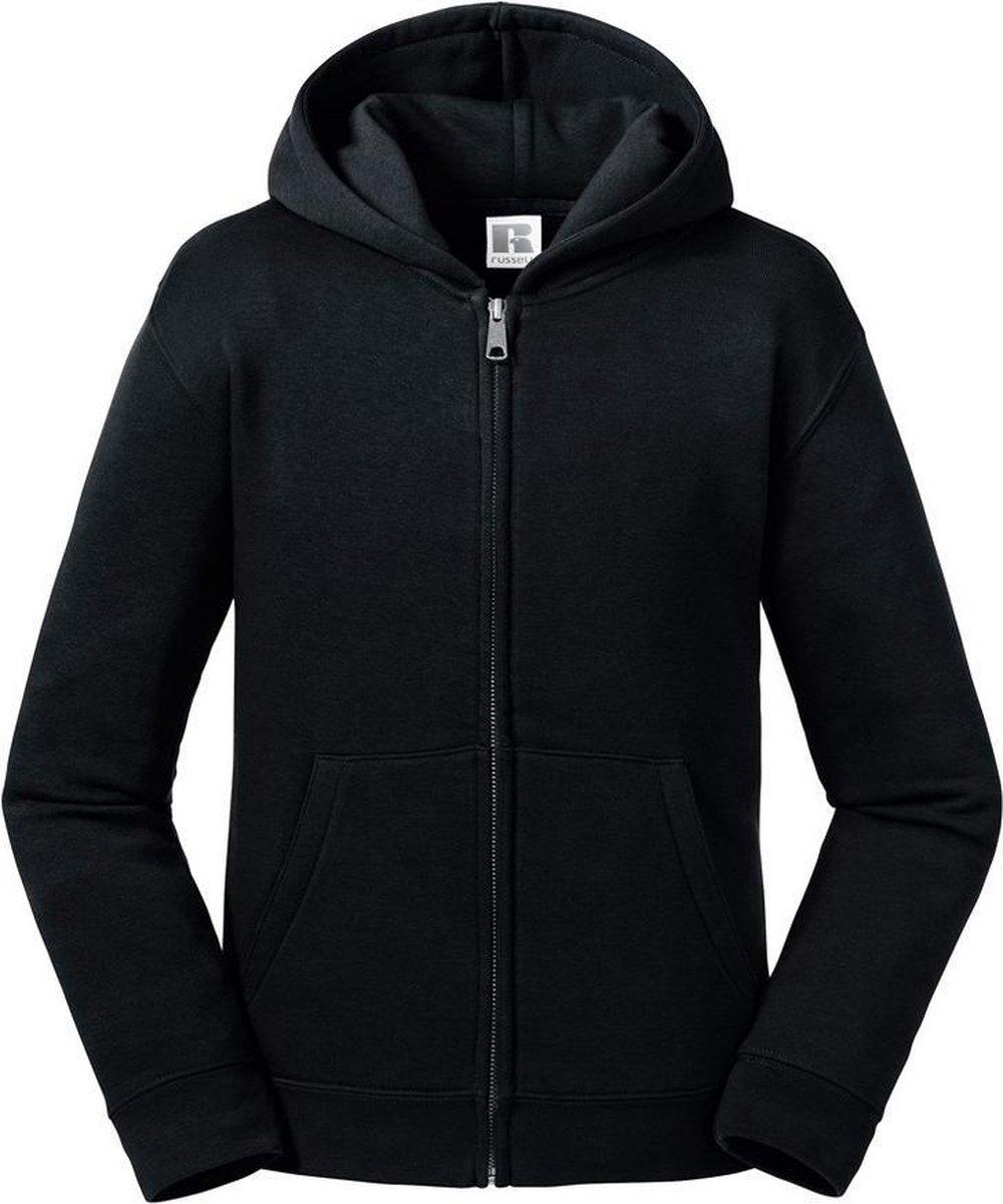 Russell Kinderen/kinderen Authentieke Zip Hooded Sweatshirt (Zwart)