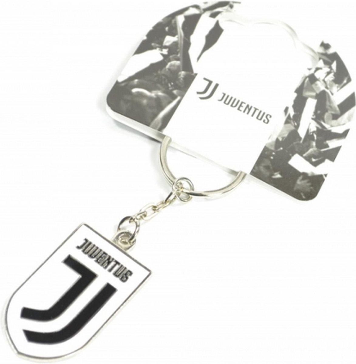 Juventus FC Crest Sleutelhanger (Wit/zwart)