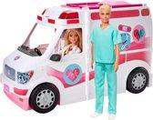 Barbie Ambulance met Dokter en Verpleegster