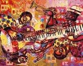 Schilderen Op Nummer Volwassenen - Met Frame - Paint By Number - Hobby  - Kunst - Muziek 50x40cm