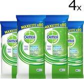 Dettol Power & Fresh - Schoonmaakdoekjes - Original - 4 x 80 doekjes - Wit