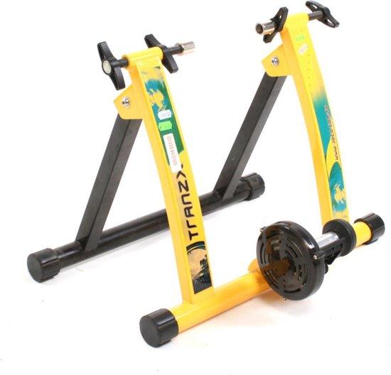 Fietstrainer - Rollenbank TranzX JD-113 geel - Trainingsstandaard voor Indoor Fietsen - Thuis Fiets Trainer - Home Trainer - Fietstraining
