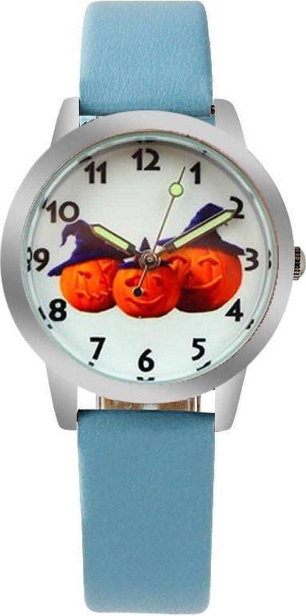 Halloween horloge (Pompoen) met glow in the dark wijzers