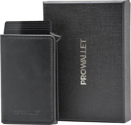 ProWallet Slim - Pasjeshouder -  9 Pasjes + Briefgeld - RFID Creditcardhouder - Zwart