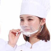 Transparant Mondkapje - Hygiënisch mondmasker - Gelaatmasker - Face shield - Herbruikbaar