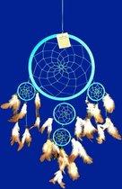 Dromenvanger Blauw 5 rings 22 cm – Turkoois – Azuri