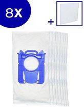 Zedar - Stofzuigerzakken - Geschikt voor  Philips AEG/Electrolux/Tornado/Zanussi (S-Bag) - 8 stuks + 1 filter