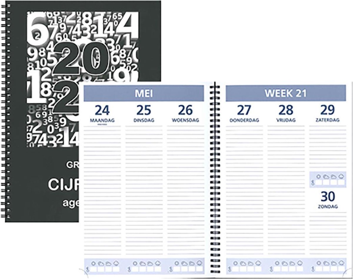Bureau-agenda 2021 - Castelli - Grote Cijfers Agenda - A4