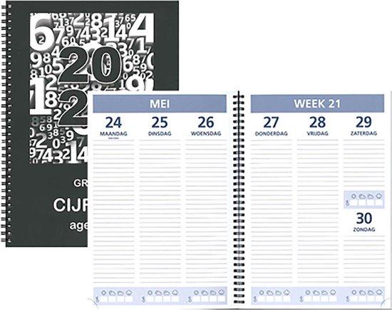 Afbeelding van Bureau-agenda 2021 - Castelli - Grote Cijfers Agenda - A4