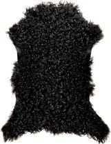 Vacht - Lam - Curly - Dierenvel - Zwart - Krullen